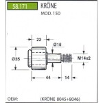 Rola pick-up KRONE KP 150 , 58.171; 8045+8046; 8045 8046