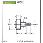 Rola pick-up KRONE KP155 ,58.172; 8305+8303; 8305 8303